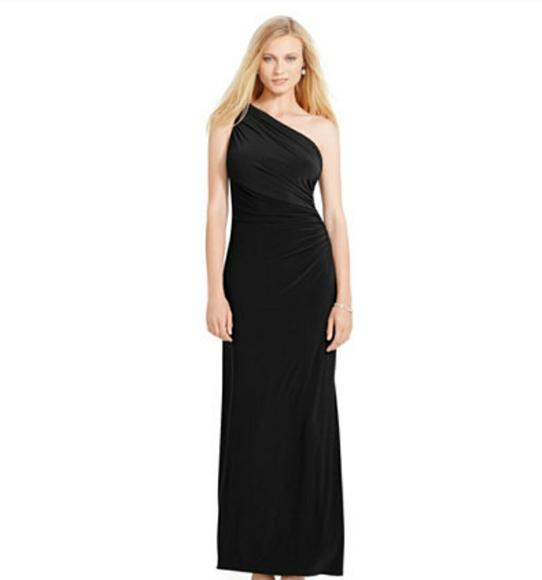 3af275cf315f Lauren Ralph Lauren Dresses   Skirts - Ralph Lauren Evening Black One  Shoulder Maxi Dress